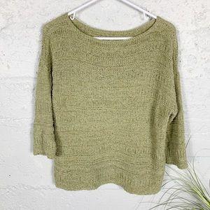 J Jill Pullover 3-4 Sleeves Sweater